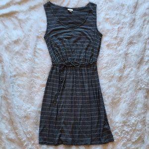 Black & White Stripe Stretchy Sleeveless Dress, S